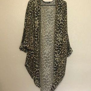 Leopard print kimono/cardigan